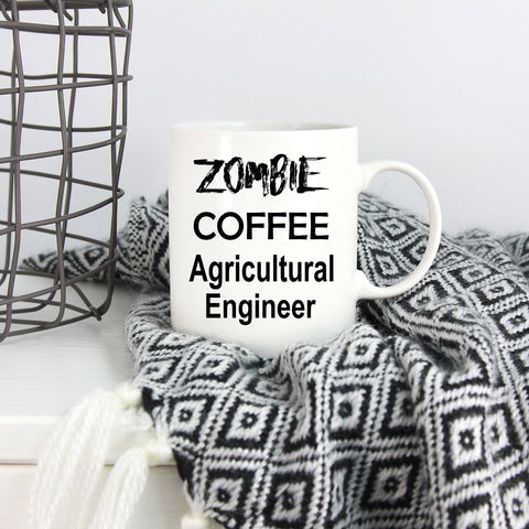 Agricultural Engineer Zombie Coffee Funny Mug Birthday Father's Day Mother's Day Gift