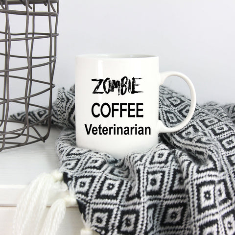 Veterinarian Zombie Coffee Mug Gift