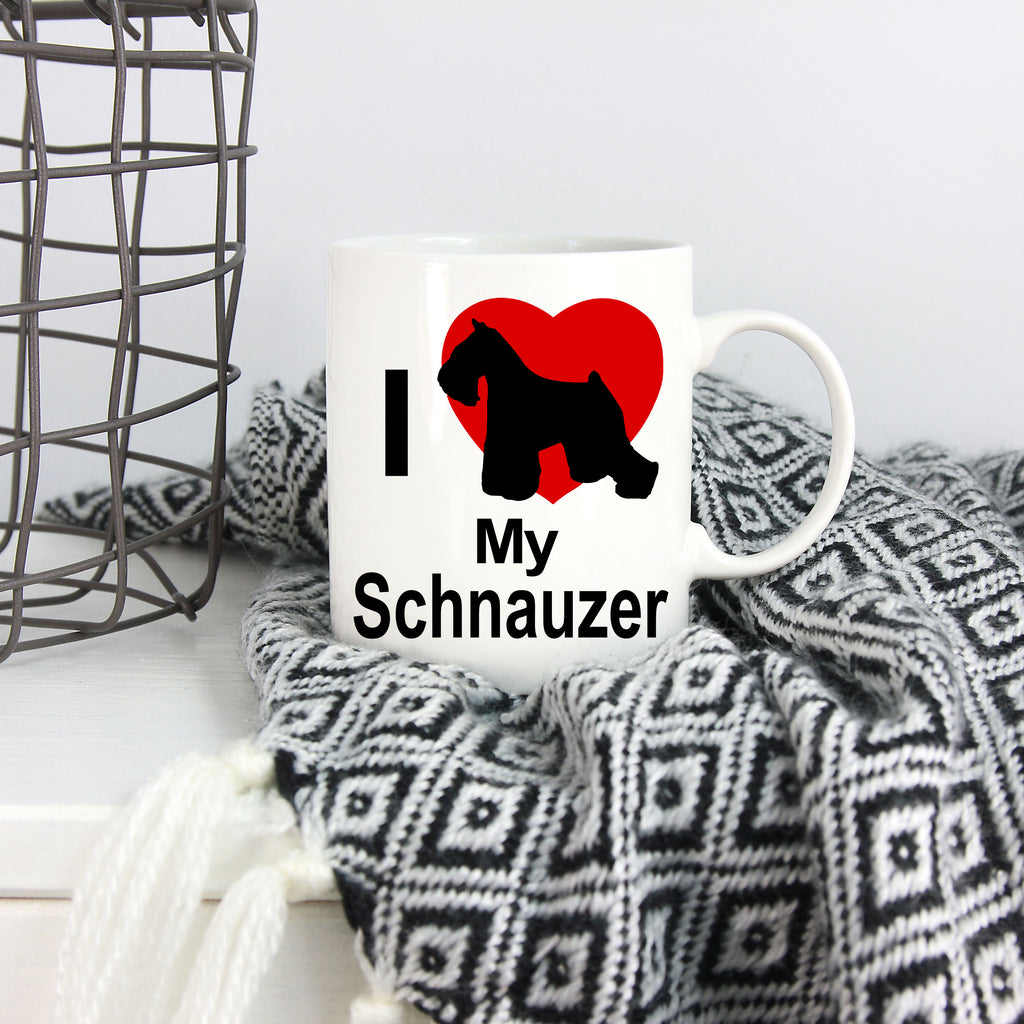 Schnauzer Dog White Coffee Mug