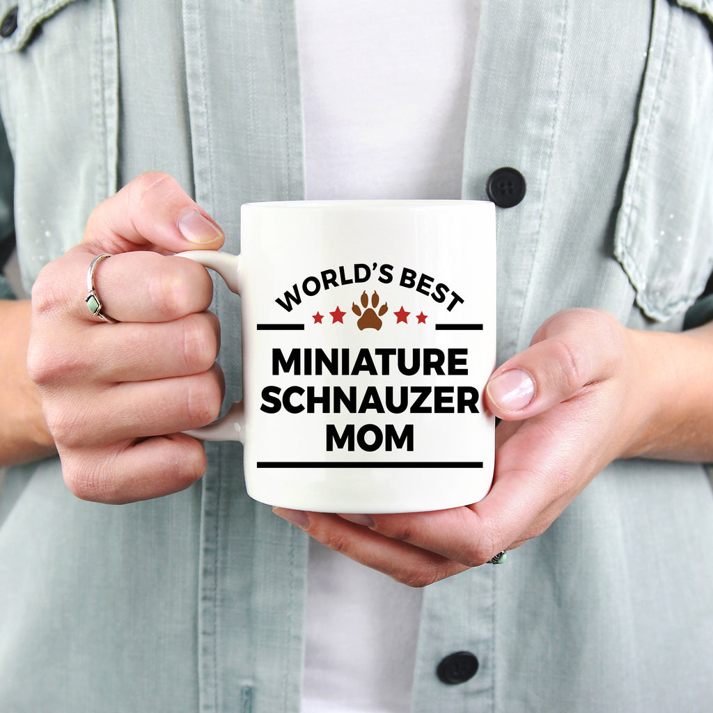 Miniature Schnauzer Ceramic Coffee Mug World's Best Mom Dog Lover Gift
