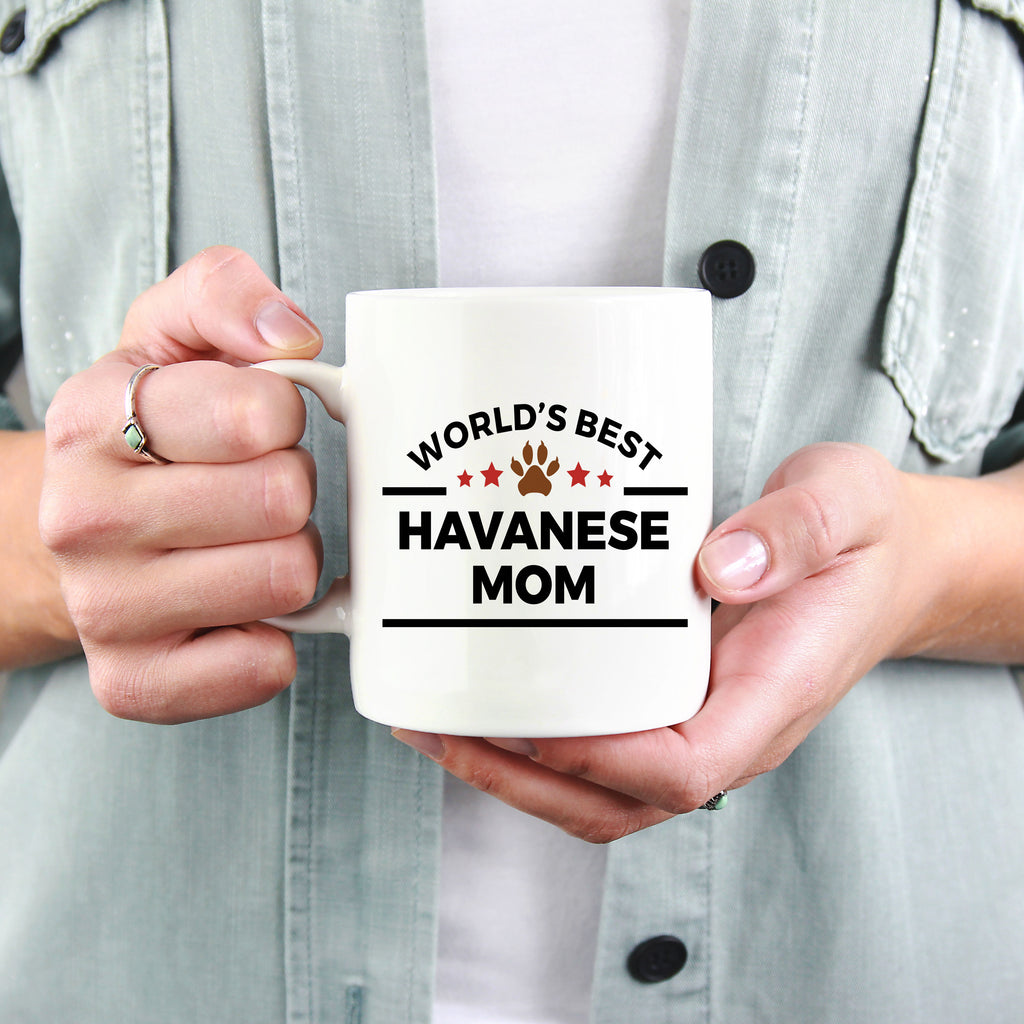 Havanese Dog Lover Gift World's Best Mom Birthday Mother's Day Ceramic Coffee Mug