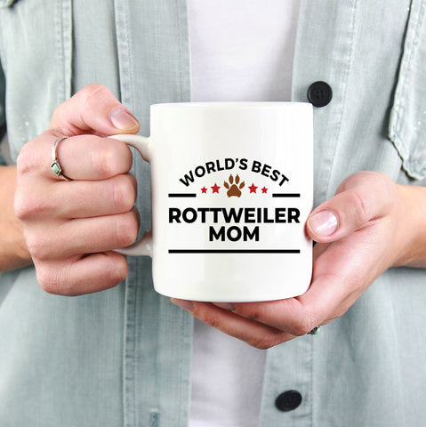 Rottweiler Best Dog Mom Ceramic Coffee Mug