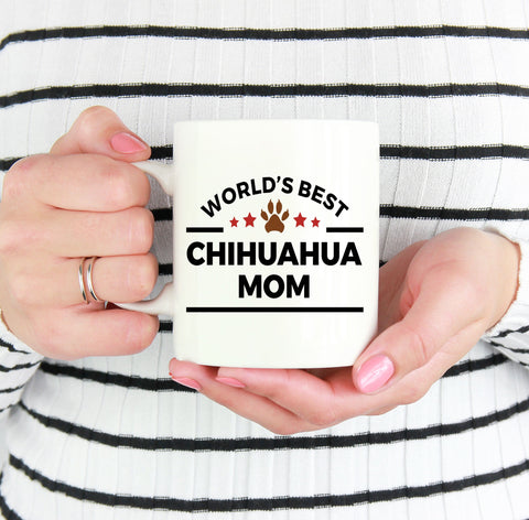 World's Best Chihuahua Mom Ceramic Mug -Great Gift for Dog Lovers