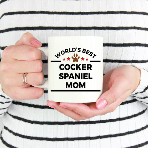 Cocker Spaniel Dog Lover Gift World's Best Mom Mother's Day Birthday Coffee Mug