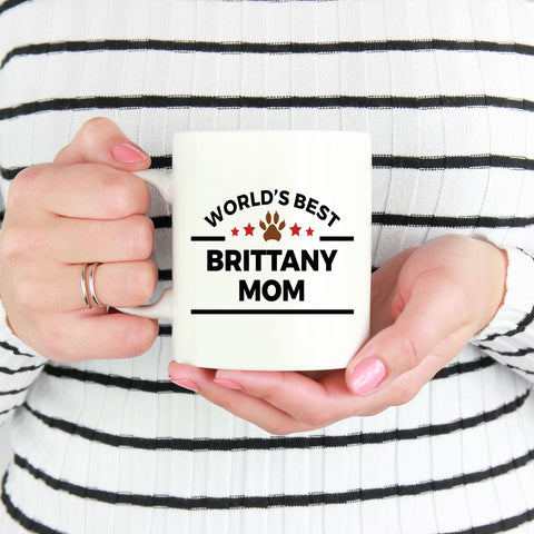 Brittany Dog Mom Coffee Mug