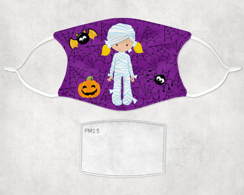 Little Mummy Halloween Face Mask Child and Adult sizes Made in USA