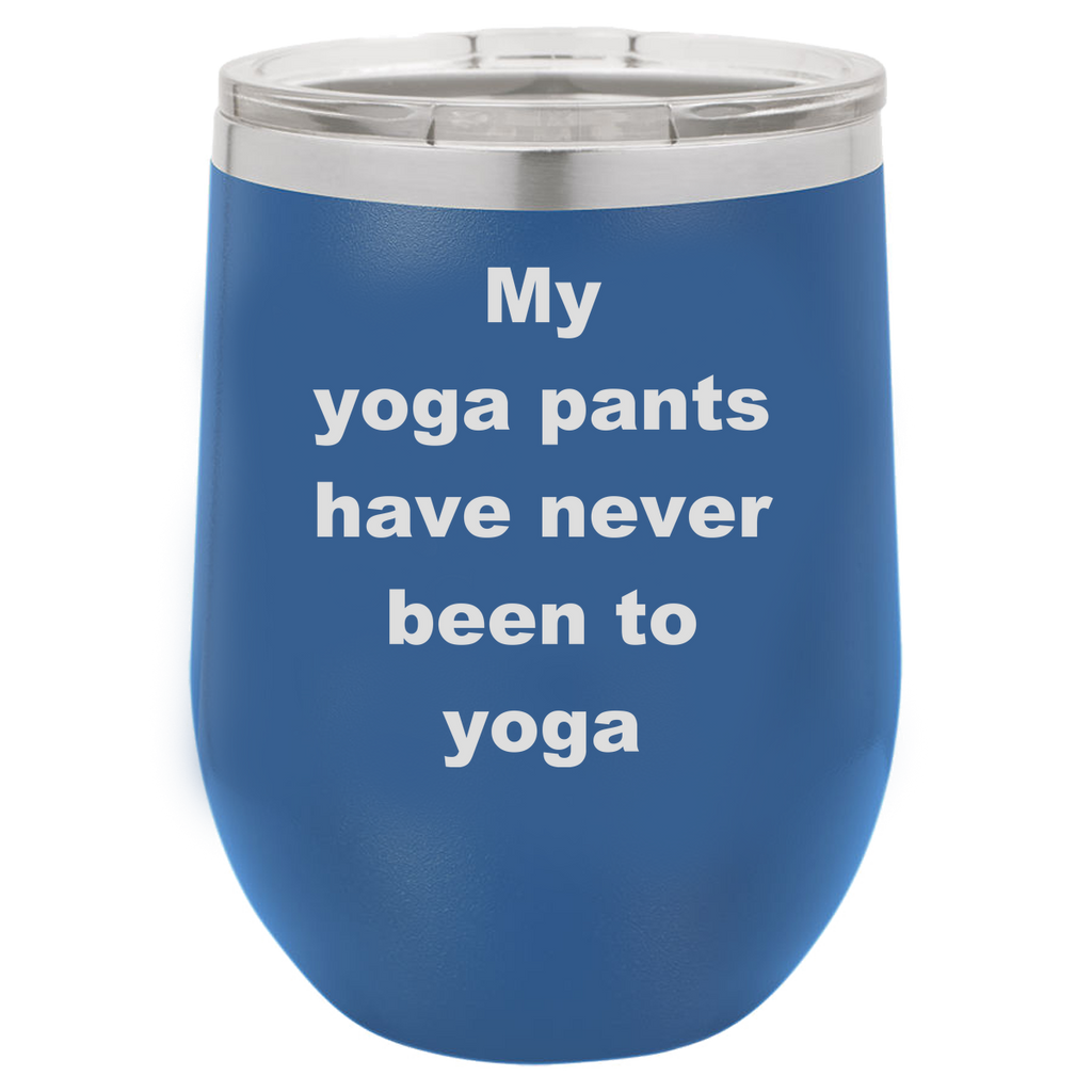 Funny Yoga Laser etched Color Wine Tumblers