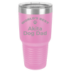 Akita Dog Dad Laser Etched Polar Camel Large 30oz Tumbler