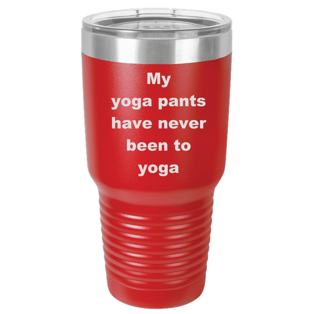 Yoga Laser Etched Color Polar Camel 30oz Ringneck Tumbler