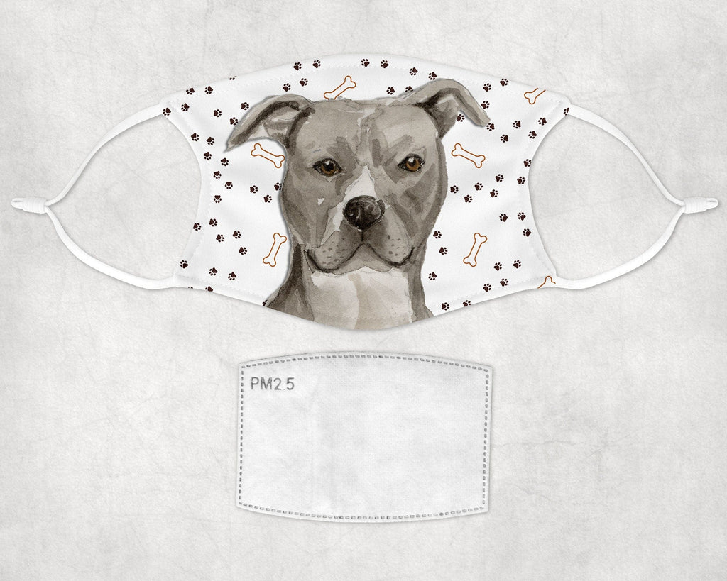 American Staffordshire Terrier - Pit Bull -Cover -Adult and Child sizes - Made in USA washable with pocket and carbon filter
