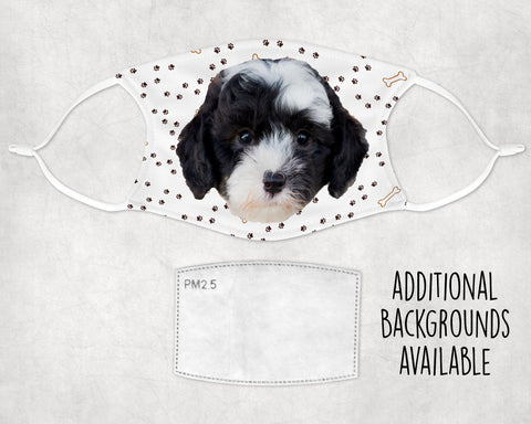 Sheepadoodle Puppy Face Mask Child and Adult Made in USA