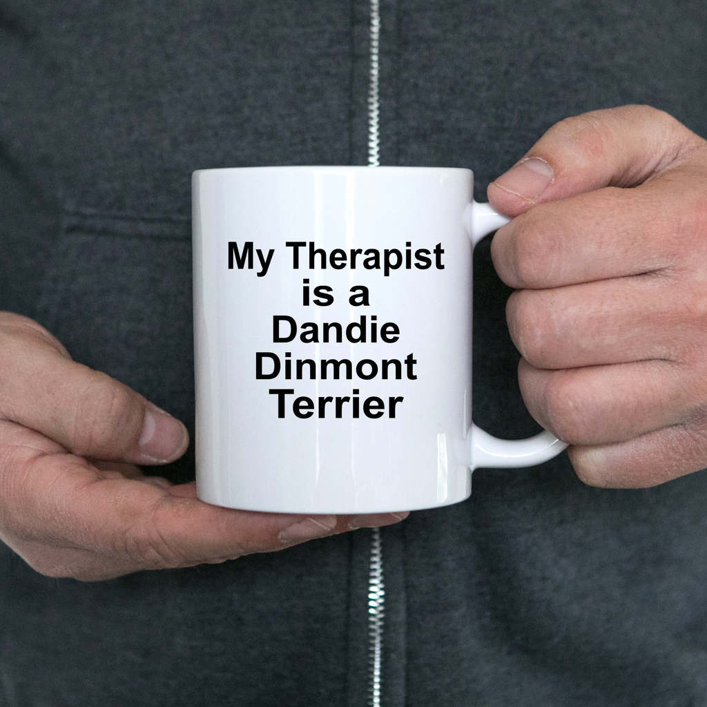 Dandie Dinmont Terrier Dog Owner Lover Funny Gift Therapist White Ceramic Coffee Mug