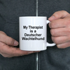 Deutscher Wachtelhund Dog Owner Lover Funny Gift Therapist White Ceramic Coffee Mug