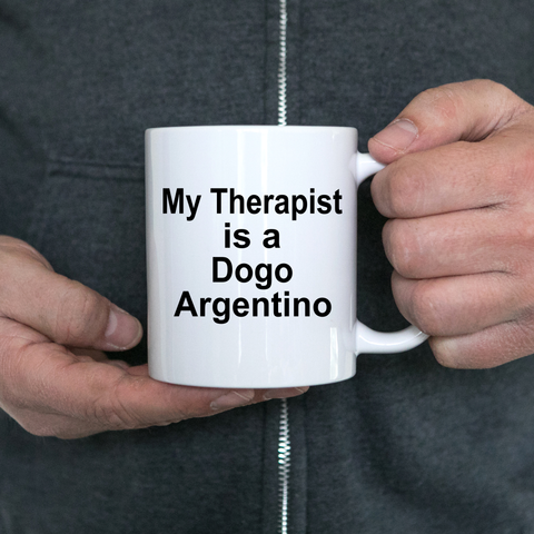 Dogo Argentino Dog Owner Lover Funny Gift Therapist White Ceramic Coffee Mug