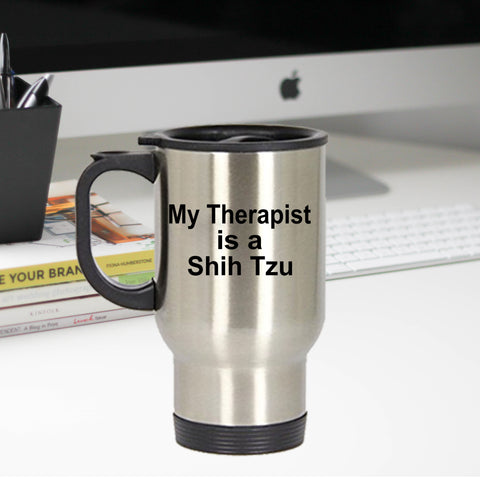 Shih Tzu Dog Therapist Travel  Mug