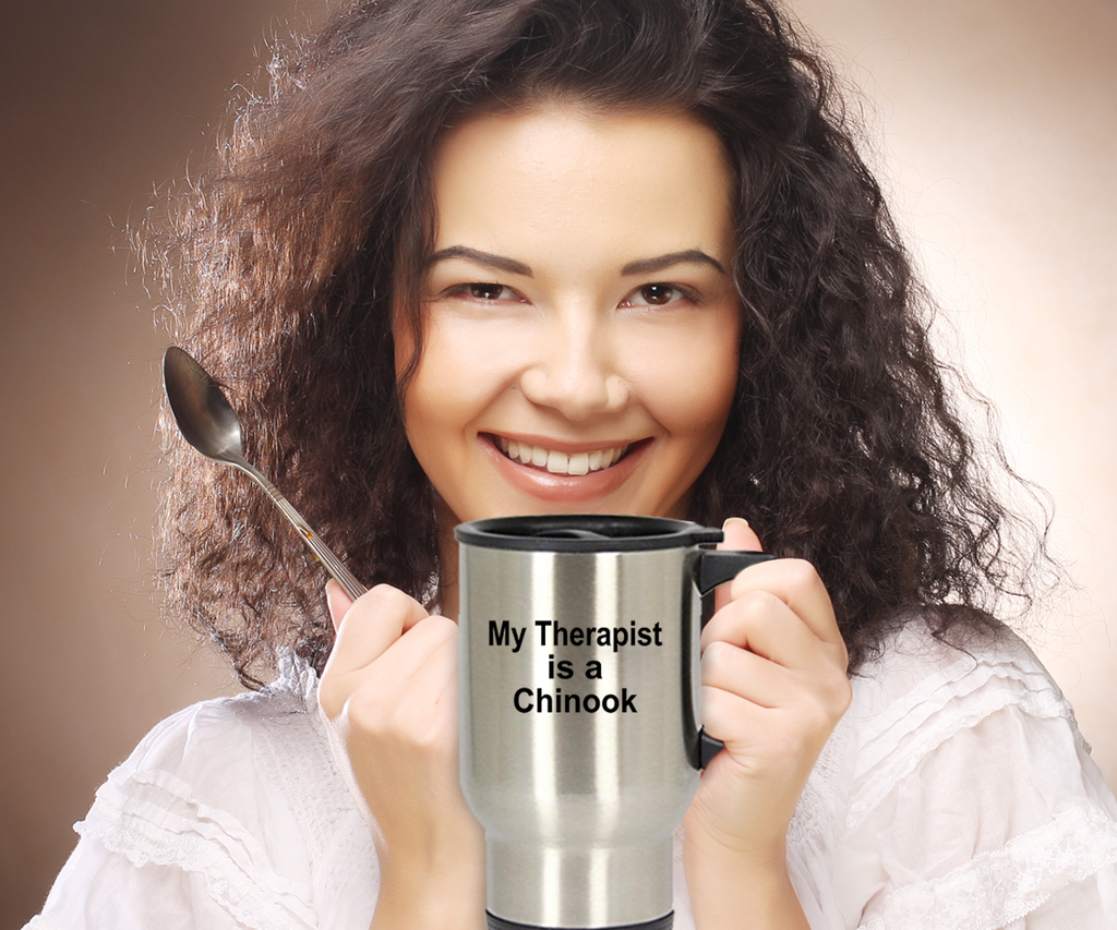 Chinook Dog Lover Owner Funny Gift Therapist Stainless Steel Insulated Travel Coffee Mug