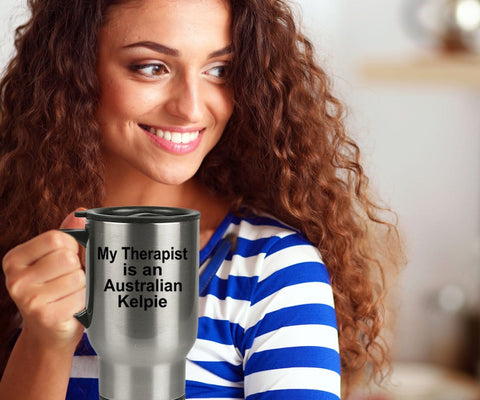 Australian Kelpie Dog Owner Lover Funny Gift Therapist Stainless Steel Insulated Travel Coffee Mug