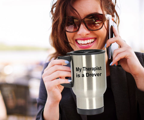 Drever Dog Owner Lover Funny Gift Therapist Stainless Steel Insulated Travel Coffee Mug