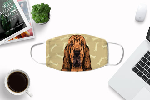 Bloodhound Fabric Cover - Washable Reusable Sublimation Printed Face Cover Art