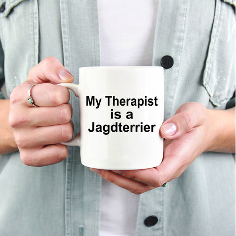 Jagdterrier Dog Owner Lover Funny Gift Therapist White Ceramic Coffee Mug