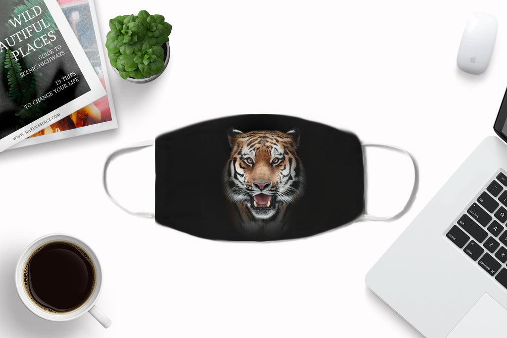 Tiger Face Mask Washable Reusable with Carbon Filter