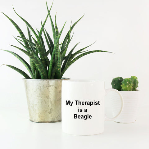 Beagle Dog Lover Gift Therapist White Ceramic Coffee Mug