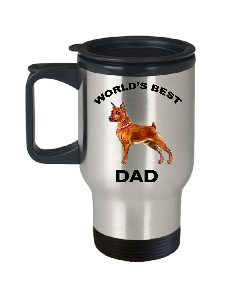 Miniature Pinscher Best Dog Dad Travel Mug