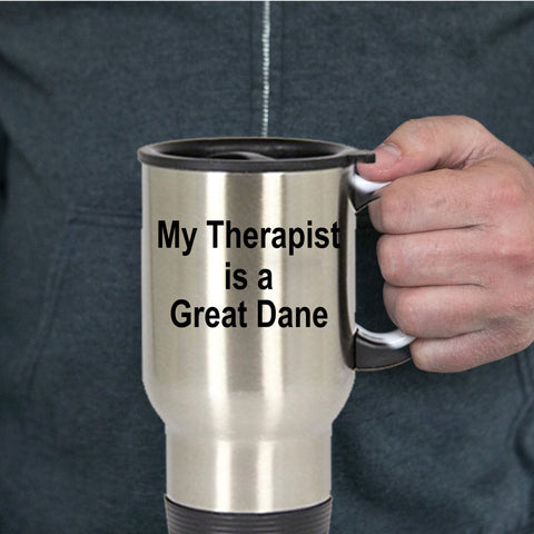 Great Dane Dog Lover Owner Funny Gift Therapist Stainless Steel Insulated Travel Coffee Mug
