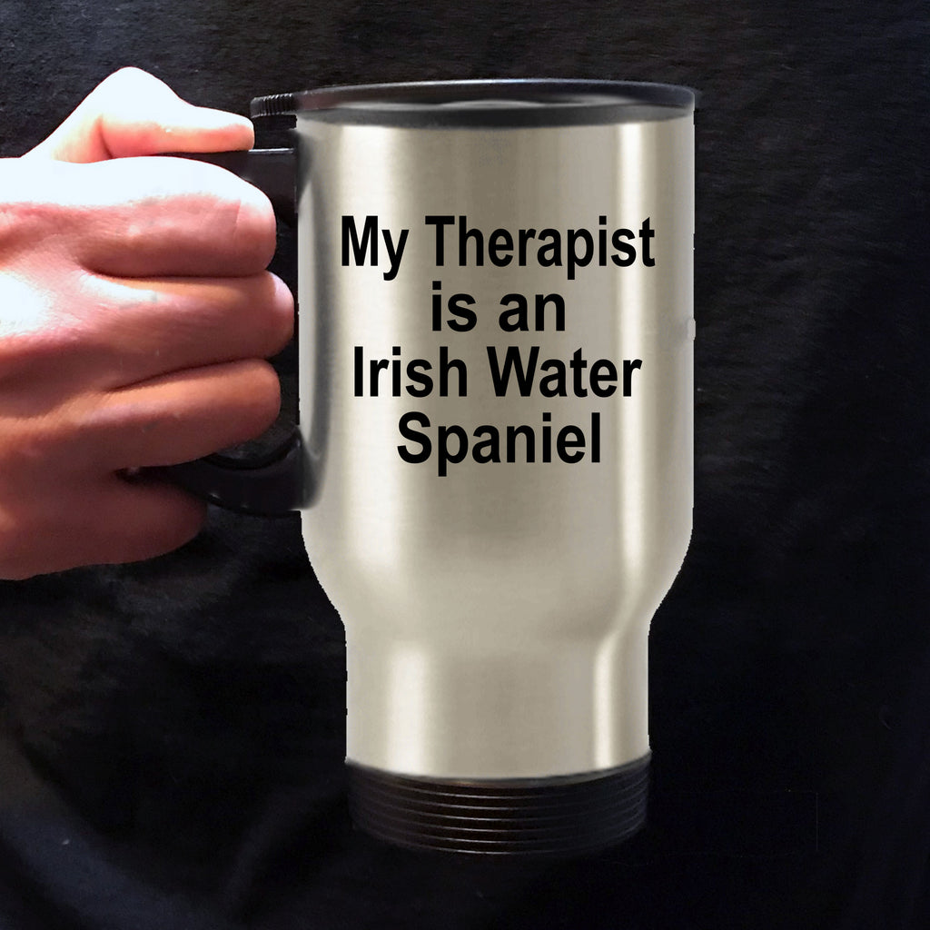 Irish Water Spaniel Dog Owner Lover Funny Gift Therapist Stainless Steel Insulated Travel Coffee Mug