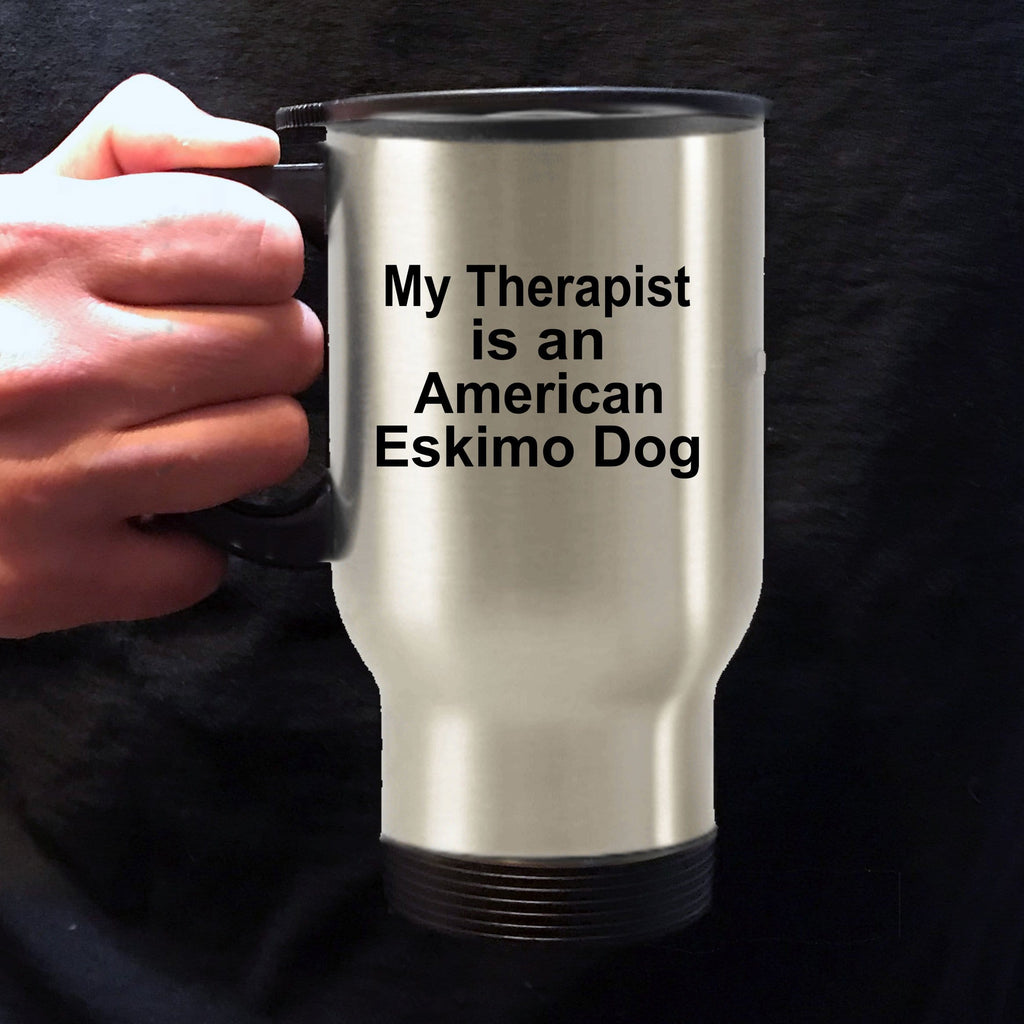 American Eskimo Dog Therapist Travel Coffee Mug