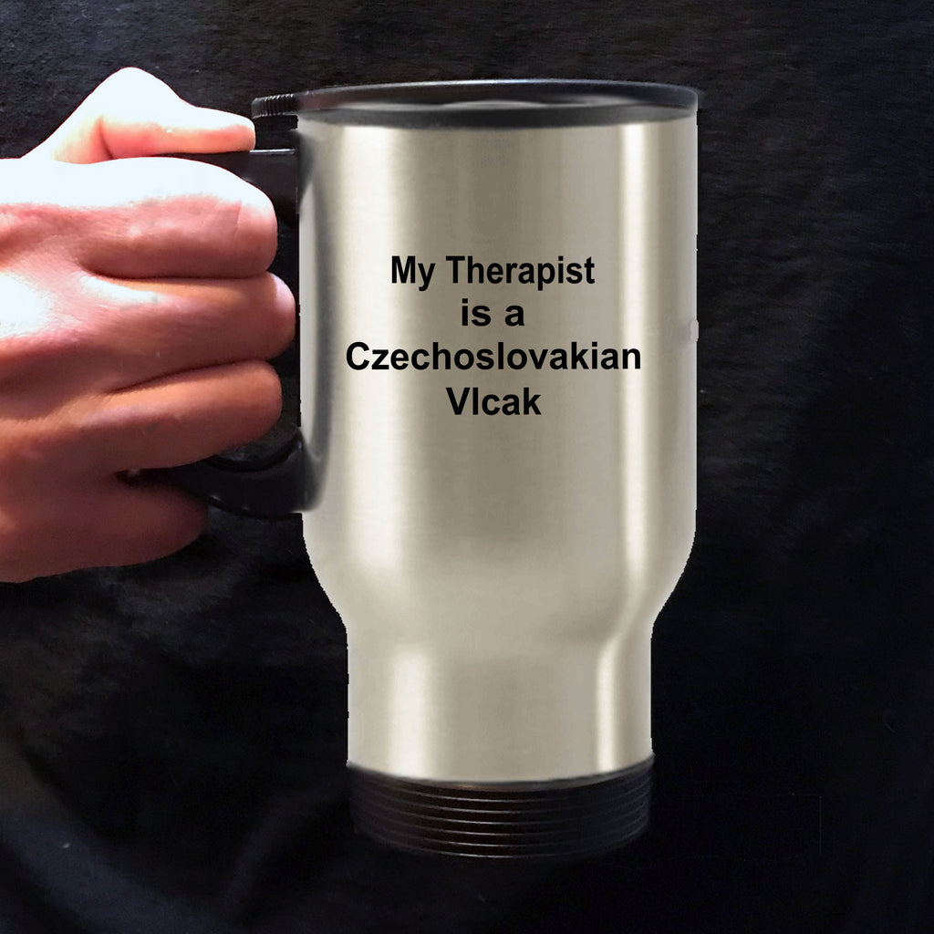 Czechoslovakian Vlcak Dog Therapist Travel Mug