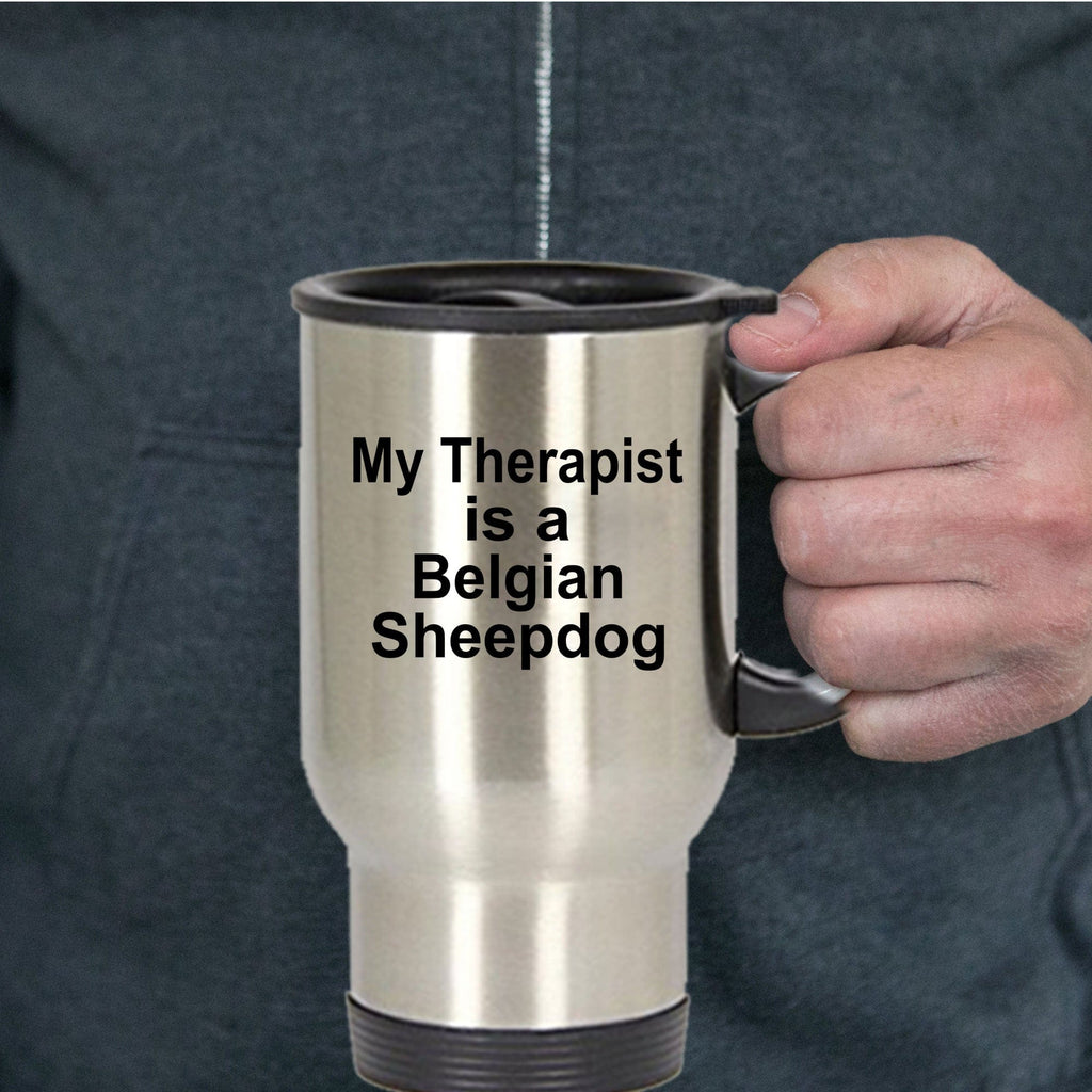 Belgian Sheepdog Dog Owner Lover Funny Gift Therapist Stainless Steel Insulated Travel Coffee Mug