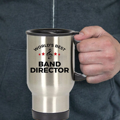 Band Director Gift World's Best Appreciation Birthday Father's Day Mother's Day Stainless Steel Insulated Travel Coffee Mug