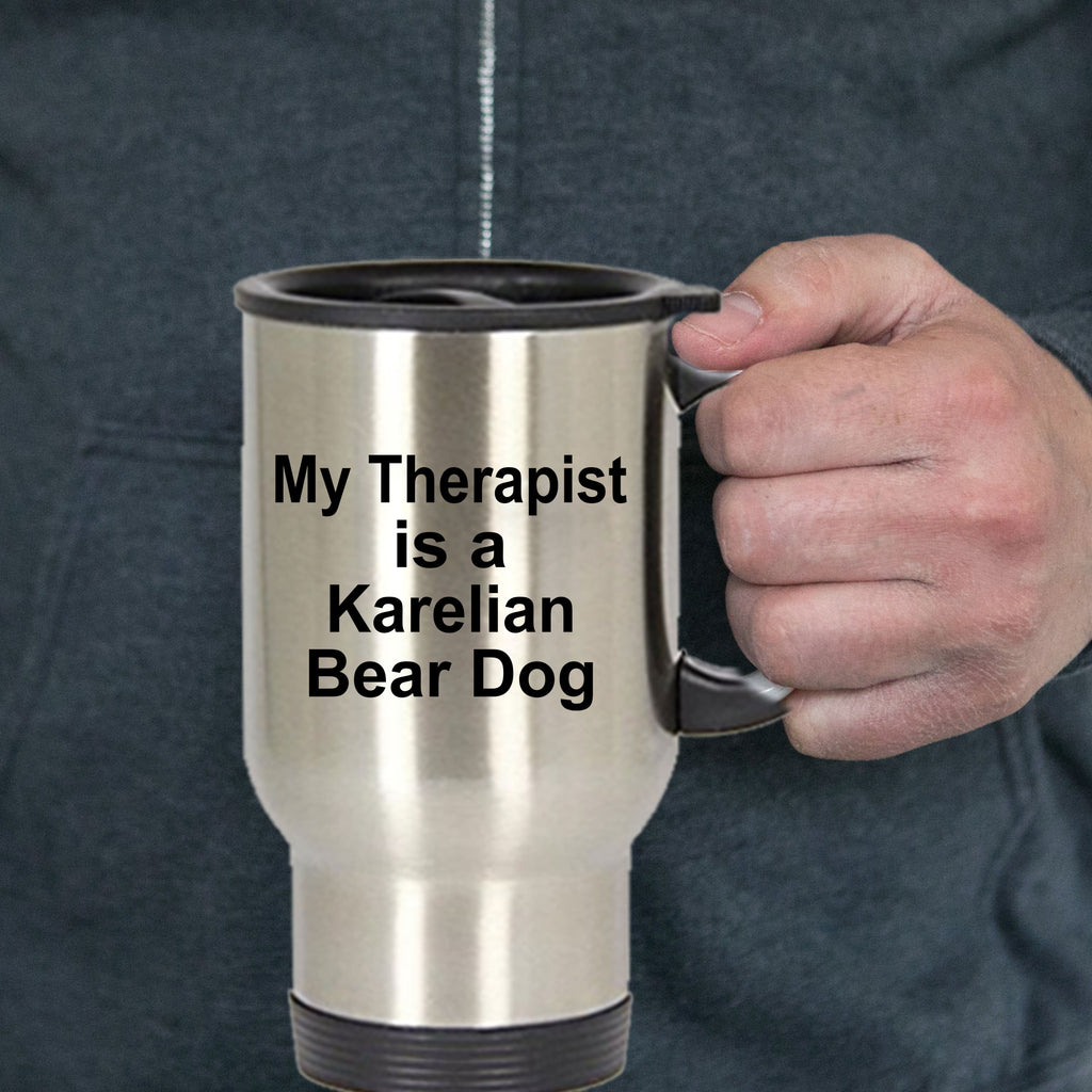 Karelian Bear Dog Owner Lover Funny Gift Therapist Stainless Steel Insulated Travel Coffee Mug