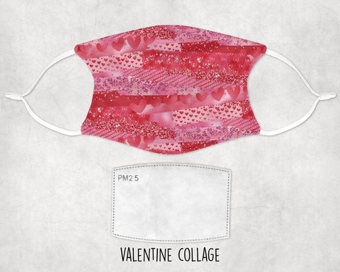 Valentine's Day Face Masks with optional Customized Text