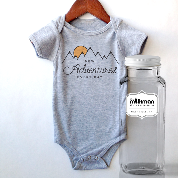 Adventure Onesie in Milk Bottle