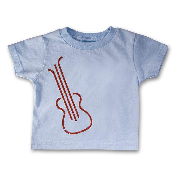 Blue Guitar Toddler Tee