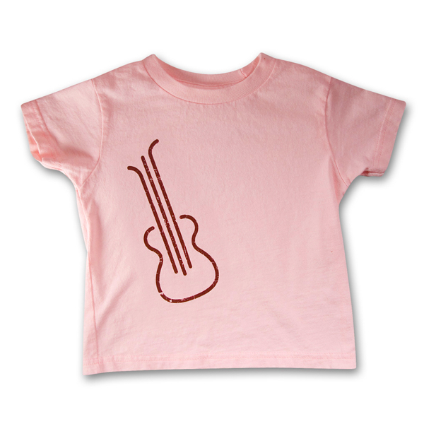 Pink Guitar Toddler Tee
