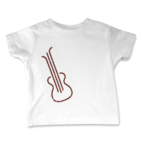 White Guitar Toddler Tee