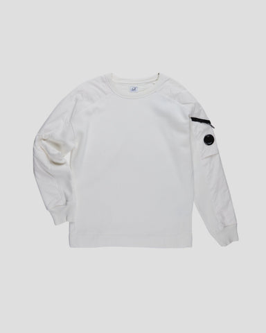 cp company brushed fleeced garment dyed lens sweater