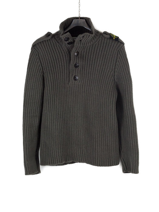 Stone Island AW 2006 Half Button Knit Shoulder Badge