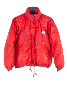 Vintage Moncler Grenoble 80's Down Jacket Paninaro Red - label