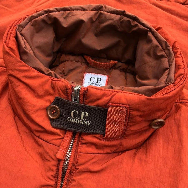 c.p. company frosted dyed jacket with branded storm flap