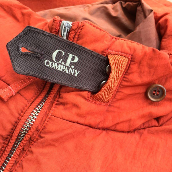 c.p. company frosted dyed jacket branded storm flap