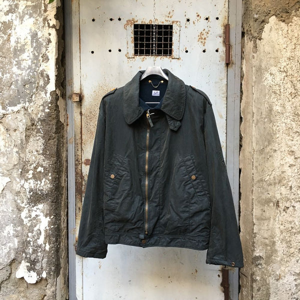 vintage cp company rubber wool jacket by massimo osti