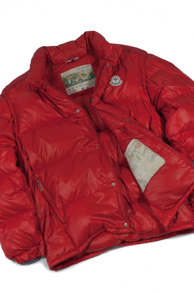 Vintage Moncler Grenoble 80's Down Jacket Paninaro Red - full