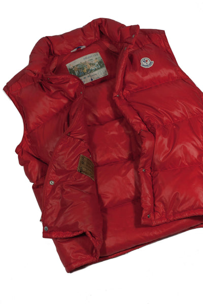Vintage Moncler Grenoble 80's Down Jacket Paninaro Red - detachable sleeves