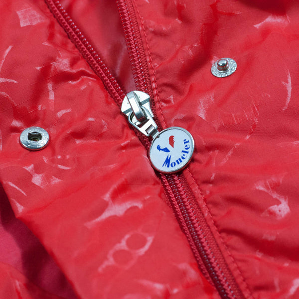 Vintage Moncler Grenoble 80's Down Jacket Paninaro Red - zipper