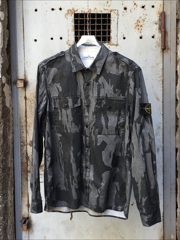 Stone Island SS 2015 Flowing Camo Effetto Riserva Overshirt