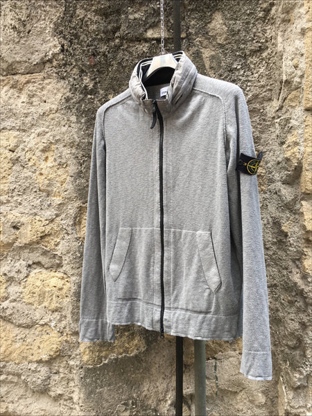 Stone Island SS 2013 Nylon Hooded Full Zip Cardigan - L/XL